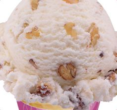 Baskin-Robbins | Nutty Coconut Ice Cream | Feeling crazy? So will your senses when they feel the chill of coconut flavored ice cream mixed with almonds, pecans, and walnuts.