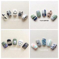 New Nail Art, Cute Nail Art, Beautiful Nail Art, Cute Nails, Pretty Nails, Asian Nails, Korean Nails, Korea Nail Art, Aloha Nails