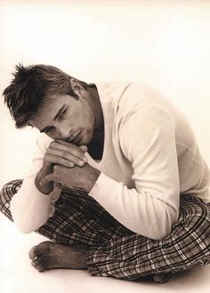 Josh Holloway, male actor, model, cute, sexy, steaming hot. Sawyer - Lost. celeb, portrait, photo b/w.
