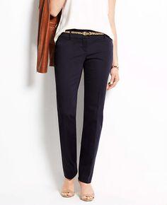 10d251f858 Petite Modern Cotton Sateen Straight Leg Pants