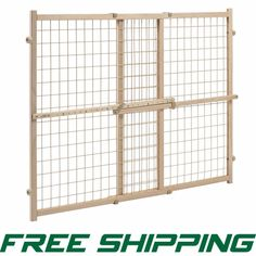 Evenflo Position And Lock Tall Pressure Mount Wood Gate New #Evenflo