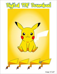 Pin The Tail on Pikachu Birthday Party Games, 6th Birthday Parties, 8th Birthday, Cute Pikachu, Pokemon Themed Party, Pokemon Birthday, Pokemon Party Invitations, Pokemon Pictures, Cards