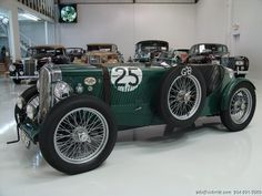 with a low boat tail ... DANIEL SCHMITT CO CLASSIC CAR GALLERY PRESENTS: 1947 MG TC CLASSIC RACE CAR