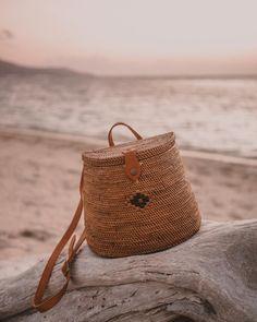 Beach Backpack, Mini Backpack, Womens Beach Bag, Ethnic Bag, Wicker Purse, Leather Backpack Purse, Boho Bags, Tear, Boho Fashion