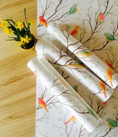 30% OFF from Colourful Birds Pattern Wallpaper by WallfloraShop