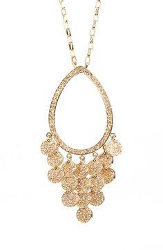 St. John Collection Swarovski Crystal Pavé Pendant Necklace available at #Nordstrom