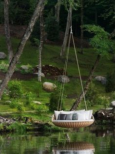 I could stay here all day with a good book!!!  Over water hammock.