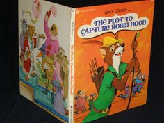 The Plot to Capture Robin Hood, A Golden Book Walt Disney  Published by Golden Press, New York - Second Edition (1974) by parkie2 on Etsy
