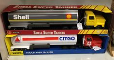 Ertl pressed steel tanker trucks in 1/25 scale made in USA.  Shell tanker $60.00 .... Citgo tanker $40.00 ... See in Case 49