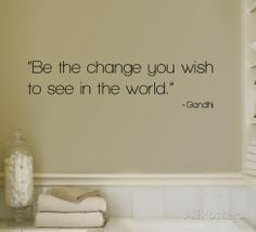 Change - Gandhi Decalcomanie da muro su AllPosters.it