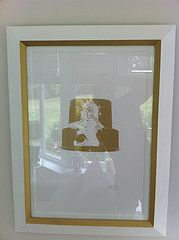 Nick Walker Spray Cap in Gold in custom frame with gold paint