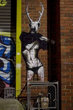 New favorite artist Kaff-Eine based in Prahran, Melbourne Street Art Melbourne, Best Street Art, Magnum Opus, Outdoor Art, Melbourne Australia, Street Artists, Urban Art, Installation Art, Deer