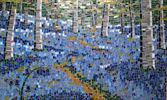 'Bluebells' mosaic Private commission by TomatoJack Arts