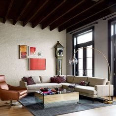 Andes 3-Piece Sectional - Stone (Twill)   west elm