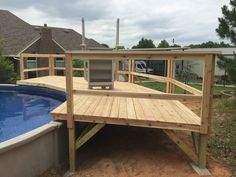 Above Ground Pool Landscaping, Above Ground Pool Decks, Small Backyard Pools, Backyard Pool Landscaping, Backyard Pool Designs, Above Ground Swimming Pools, In Ground Pools, Outdoor Pool, Pool Spa