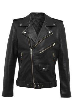 BLK DNM Mens Leather Jacket 5 Black. #blkdnm #cloth #
