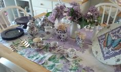 Cake Plates and Other Treasures : Purple Tea for Three