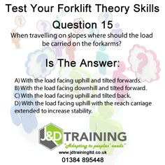 Forklift question of the day 15 from http://ift.tt/1HvuLik #forklift #training #safety #jobsearch