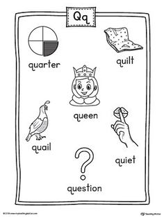 Letter G Word List with Illustrations Printable Poster