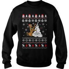 Ugly Christmas sweater for Scooby - Doo fans T-Shirt Christmas Shirts, Ugly Christmas Sweater, Funny Christmas, Merry Christmas, Bartender Shirts, Bartender Quotes, Tee Shirts, Sweat Shirt, Cool Tees