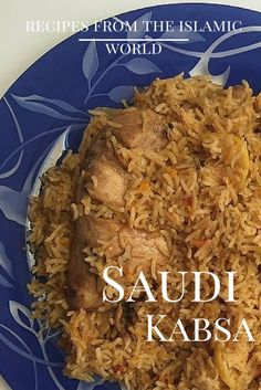Saudi Arabian Kabsa (Chicken and Rice) Saudi Kebsa Middle East Food, Middle Eastern Dishes, Middle Eastern Recipes, Lebanese Recipes, Indian Food Recipes, Ethnic Recipes, Arabic Recipes, Arabic Chicken Recipes, Arabic Chicken And Rice Recipe