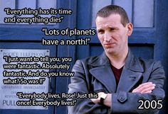 You never forget your first Doctor, and I love Eccleston!