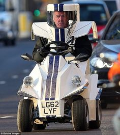 british mobility chairs green plastic outdoor stacking pimp my wheelchair jeremy clarkson was spotted driving up london s park lane dressed as a robot riding on an