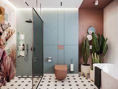 Bathroom decor, Bathroom decoration, Bathroom DIY and Crafts, Bathroom Interior design Bathroom Design Luxury, Modern Bathroom, Small Bathroom, Master Bathroom, Luxury Bathrooms, Bathroom Designs, Copper Bathroom, Master Shower, Modern Shower