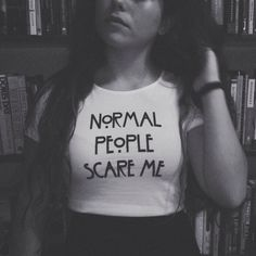 Normal People Scare Me American Horror Story AHS Tumblr Cropped Top Shirt on Etsy, $22.00 !!!!WANT!!!!