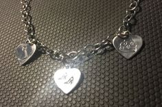 All of our stamped jewelry is hand stamped by me. Being that each of the 3 items are stamped into the metal individually there will be variation