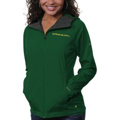 b05eef00468a Oregon Ducks Columbia Women s Surefire Softshell Jacket – Green ( 100) ❤  liked on Polyvore