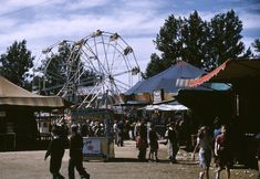 Rare color photos document the festivities at a 1941 state fair