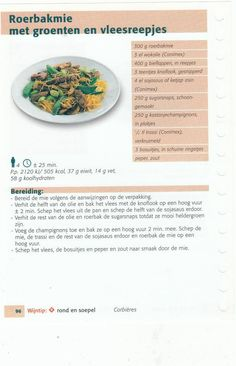 roerbakmie met groenten en vleesreepjes