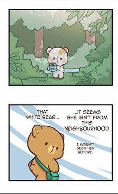 That white bear Cute Couple Comics, Cute Couple Cartoon, Cute Couple Art, Cute Love Gif, Cute Love Pictures, Bear Pictures, Cute Cartoon Images, Cute Cartoon Wallpapers, Cute Images