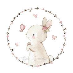 Poco a poco estoy lanzando novedades en la tienda, esta lámina de mi querida conejita con sus amigas las mariposas, forma parte de la nueva…