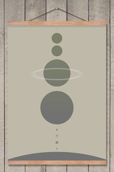 All the planets in our solar system are shown in correct size-ratio on this poster. Starting from the top: Pluto, Neptune, Uranus, Saturn, Jupiter, Mars, Earth, Venus, Mercury and of cou…