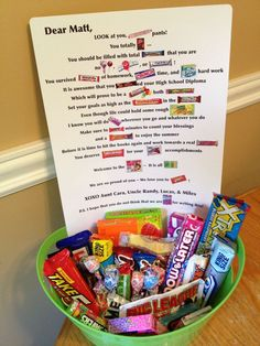 candy grams | Graduation Candy Gram | Gifts for Everyone