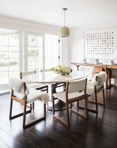 Dining table with chairs Scandinavian furniture