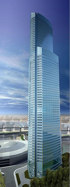 Eurasia Tower, Moscow, Russia by Swanke Hayden Connell Architects :: 72 floors, height 309m