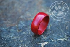 Wood ring  Bent Wood Ring  Red Birchwood Wood by Wellsbaredesigns