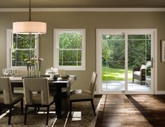 Pella® 350 Series Double Hung window - traditional - dining room - - by Pella Windows and Doors