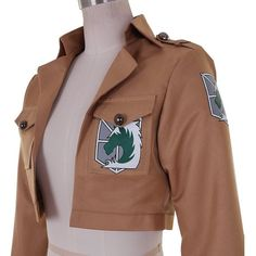 CG Costume Women's Attack on Titan Military Police Jacket Cosplay... ($14) ❤ liked on Polyvore featuring costumes, cosplay costumes, military halloween costumes, lady costumes, cosplay halloween costumes and womens costumes