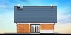 Elewacja lewa projektu Noelia Modern Nalu, Blinds, Home Appliances, Curtains, Outdoor Decor, Dom, Home Decor, Modern, Projects