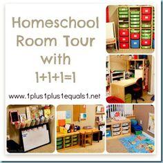 Homeschool Room from 1+1+1=1