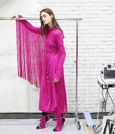Emilio Pucci, New York Times, Hot Pink Fashion, Red Leather, Leather Jacket, Backstage, Instagram Posts, Jackets, Fall