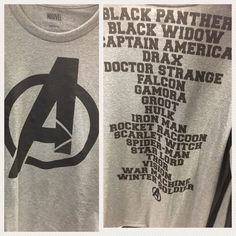 So I found this shirt at JCPenney of all the heroes that are going to be in Infinity War. I didnt buy it. Reason why: its not a complete list since theyre missing one.