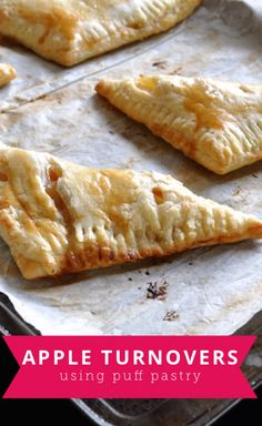 Easy to make apple turnovers using puff pastry that make the perfect fall snack.