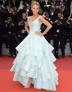 Blake Lively channels Cinderella in a princess-like ball gown while attending the premiere of Slack Bay during the 2016 Cannes Film Festival in Cannes on May 13, 2016