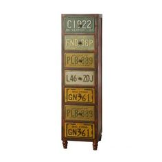 License Plate Chest - 7 Drawers - Creative Co-Op | Milan Direct