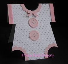 Baby Girl Onsie Card by elmo98ca - Cards and Paper Crafts at Splitcoaststampers